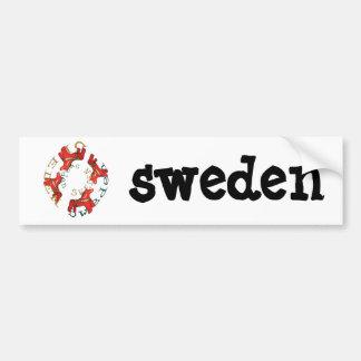 Caballos de Dala del sueco Etiqueta De Parachoque
