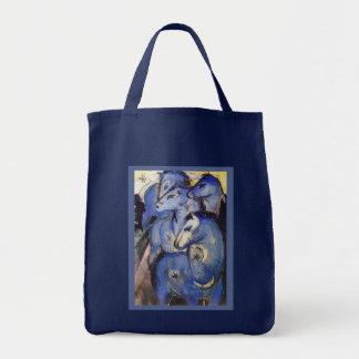 Caballos de Franz Marc - el jinete azul Bolsa Tela Para La Compra