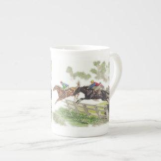 Caballos de la carrera de obstáculos taza de porcelana