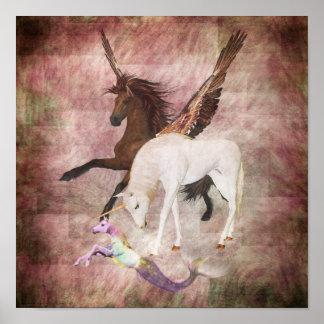 Caballos de la fantasía posters