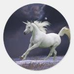 Caballos de la fantasía: Unicornio Pegatina Redonda