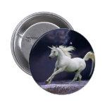 Caballos de la fantasía: Unicornio Pin Redondo 5 Cm