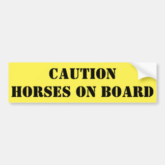 Caballos de la precaución a bordo pegatina para coche