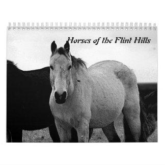 Caballos de las colinas del pedernal calendario