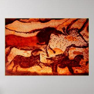 Caballos de Lascaux y una Bull Posters