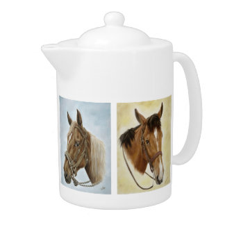 ¡Caballos de los caballos! Tetera