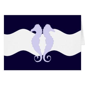 Caballos de mar 1 tarjeta pequeña