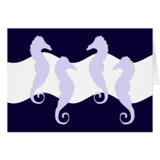 Caballos de mar 2 tarjetas