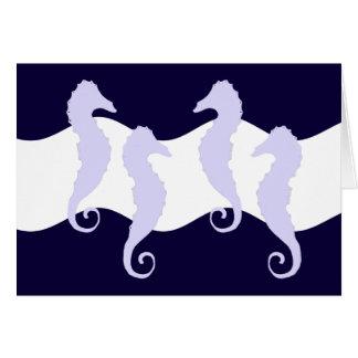 Caballos de mar 2 tarjeta pequeña