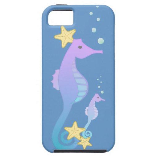 Caballos de mar coloridos iPhone 5 fundas