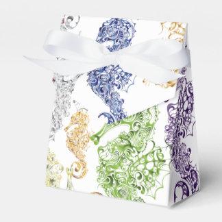 Caballos de mar imaginarios - bolso 2 del favor cajas para detalles de boda