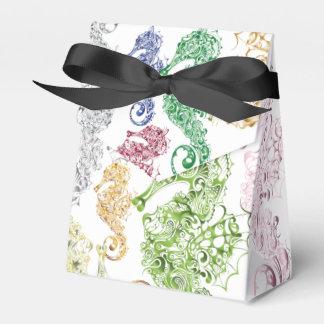Caballos de mar imaginarios - bolso del favor caja para regalo de boda