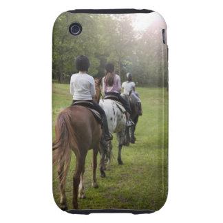 Caballos de montar a caballo de las niñas tough iPhone 3 protector