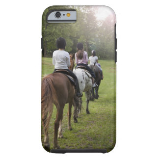Caballos de montar a caballo de las niñas funda para iPhone 6 tough