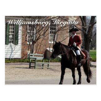 Caballos de montar a caballo en Williamsburg colon Postal
