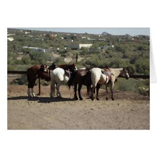 Caballos de poste que engancha en Arizona Tarjeta De Felicitación