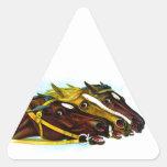 Caballos de raza calcomanía de trianguladas