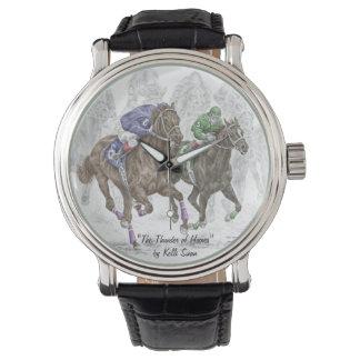 Caballos de raza galopantes relojes
