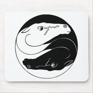Caballos de Yin Yang Alfombrilla De Raton