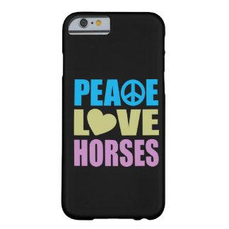 Caballos del amor de la paz funda de iPhone 6 barely there