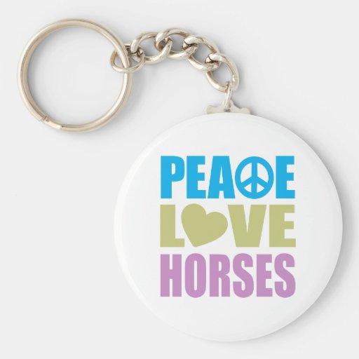 Caballos del amor de la paz llavero