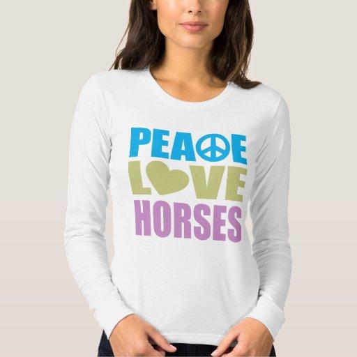 Caballos del amor de la paz playera
