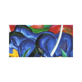 Caballos del azul de Franz Marc Lona Envuelta Para Galerias