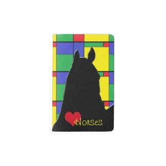 Caballos del corazón I (colores primarios) Funda Para Libreta Y Libreta Pequeña Moleskine