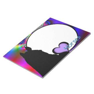 Caballos del corazón I (fractal 50) Bloc De Papel