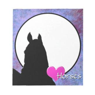 Caballos del corazón I (púrpuras/azul) Bloc De Notas