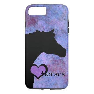 Caballos del corazón IV (púrpuras/azul) Funda iPhone 7 Plus