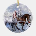 Caballos del día de fiesta del navidad ornamentos para reyes magos