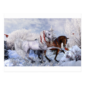 Caballos del día de fiesta del navidad tarjetas postales