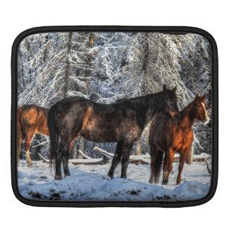 """Caballos del invierno """"año foto equina del caballo fundas para iPads"""