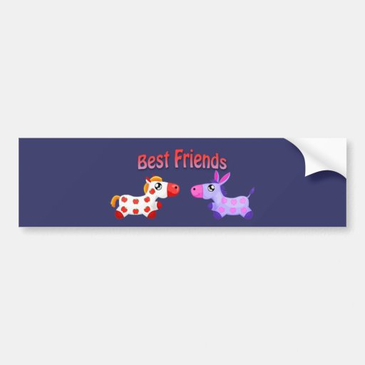 Caballos del mejor amigo etiqueta de parachoque