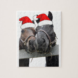 Caballos del navidad rompecabeza con fotos