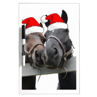 Caballos del navidad tableros blancos