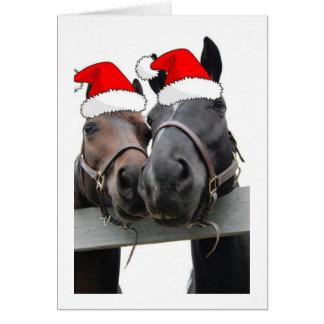 Caballos del país del navidad tarjeta de felicitación