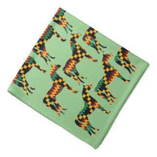 Caballos del paño de Kente en verde claro Bandana