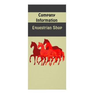 Caballos del rojo de la fantasía lona personalizada
