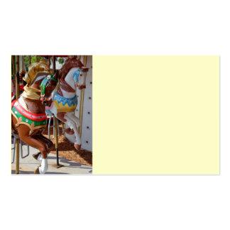 Caballos del tiovivo tarjeta de visita