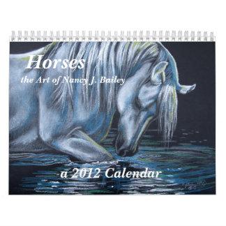 Caballos - el arte de Nancy J. Bailey Calendarios
