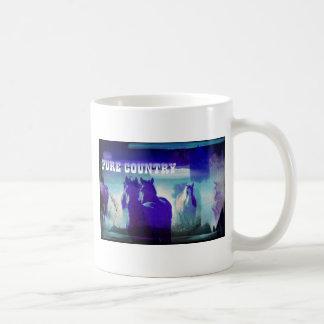 Caballos en azul taza
