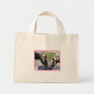 """""""Caballos en bolso/tote de la lona del amor"""" Bolsas De Mano"""