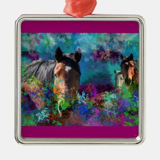 Caballos en Fantasyland: Un sueño del caballo Ornamento Para Arbol De Navidad