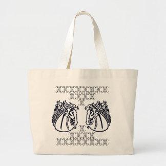 Caballos en la bolsa de asas enorme