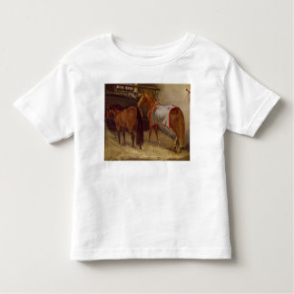 Caballos en los establos tshirts