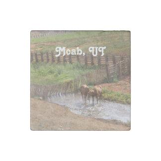 Caballos en Moab Imán De Piedra