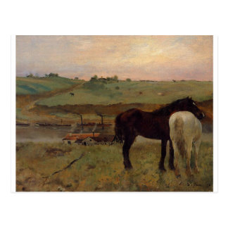 Caballos en un prado de Edgar Degas Tarjetas Postales