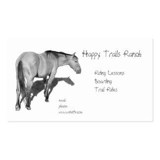 Caballos establo montar a caballo lección Caba Plantillas De Tarjetas De Visita